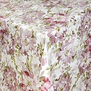 KEVKUS Nappe en toile cirée 01132-02 - Motif fleurs multicolores au choix - Rectangulaire et ronde - Ovale (bordure croche...