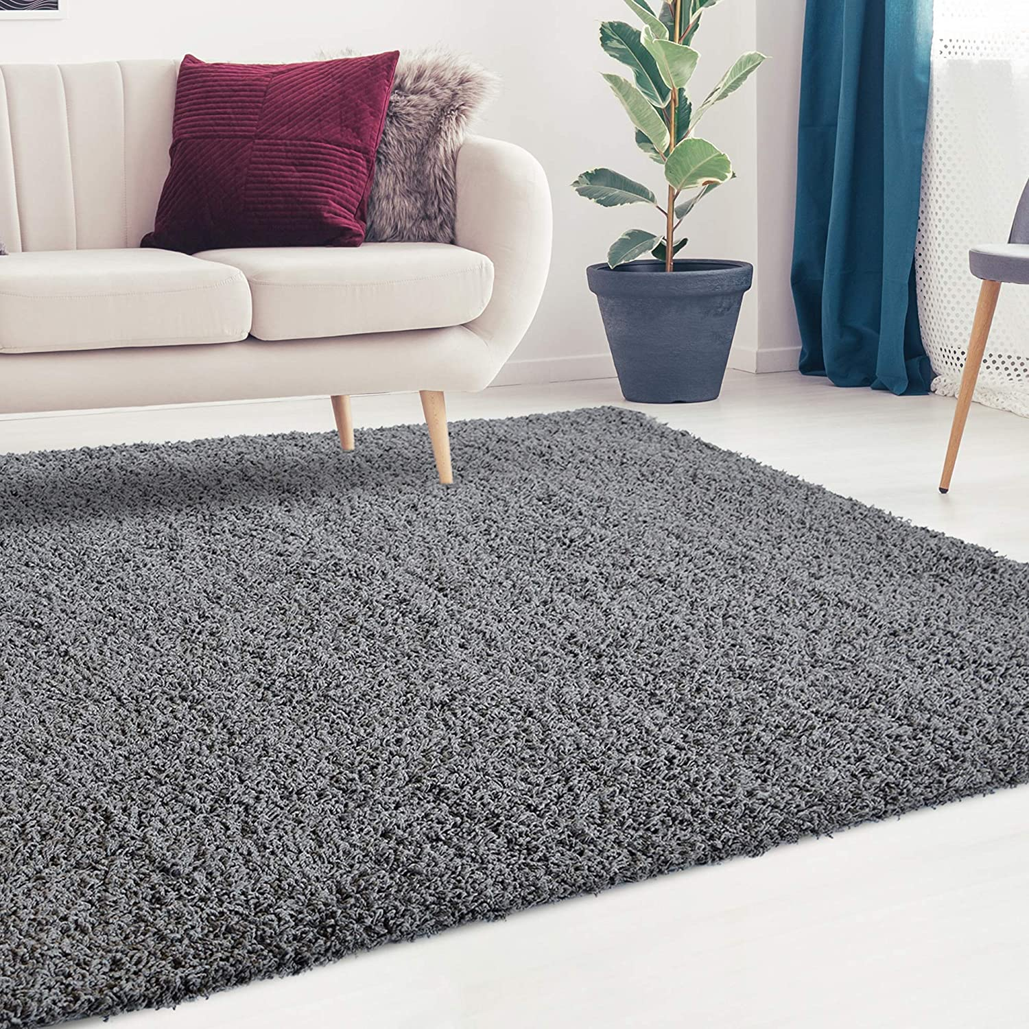 iCustomRug Cozy and Super ! Super beauty product restock quality top! Soft Ranking TOP2 Plush Shag Ideal Rug to Enh Solid