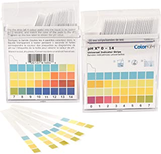 pH Test for Water, 0-14 Scale, Made of Premium Litmus Paper, for Drinking Water, Pool Water, Hot Tubs, Aquariums (100 Strips)