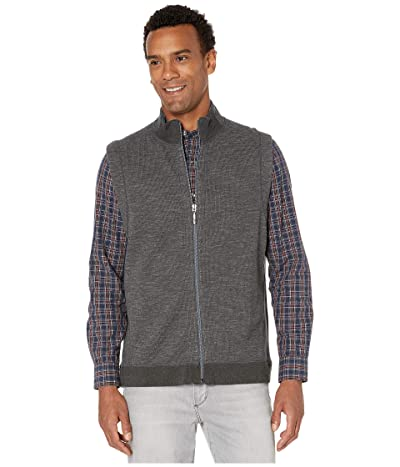 Tommy Bahama New Flipsider Full-Zip Reversible Vest (Dark Pewter Heather) Men