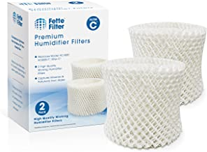 Fette Filter - Humidifier Wicking Filters Compatible with Honeywell HC-888, HC-888N, Filter C. Pack of 2.
