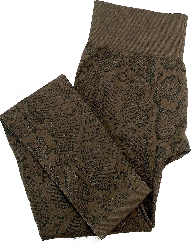 HUE Women's Animal Seamless Leggings (U17488) (S/M, Roast)