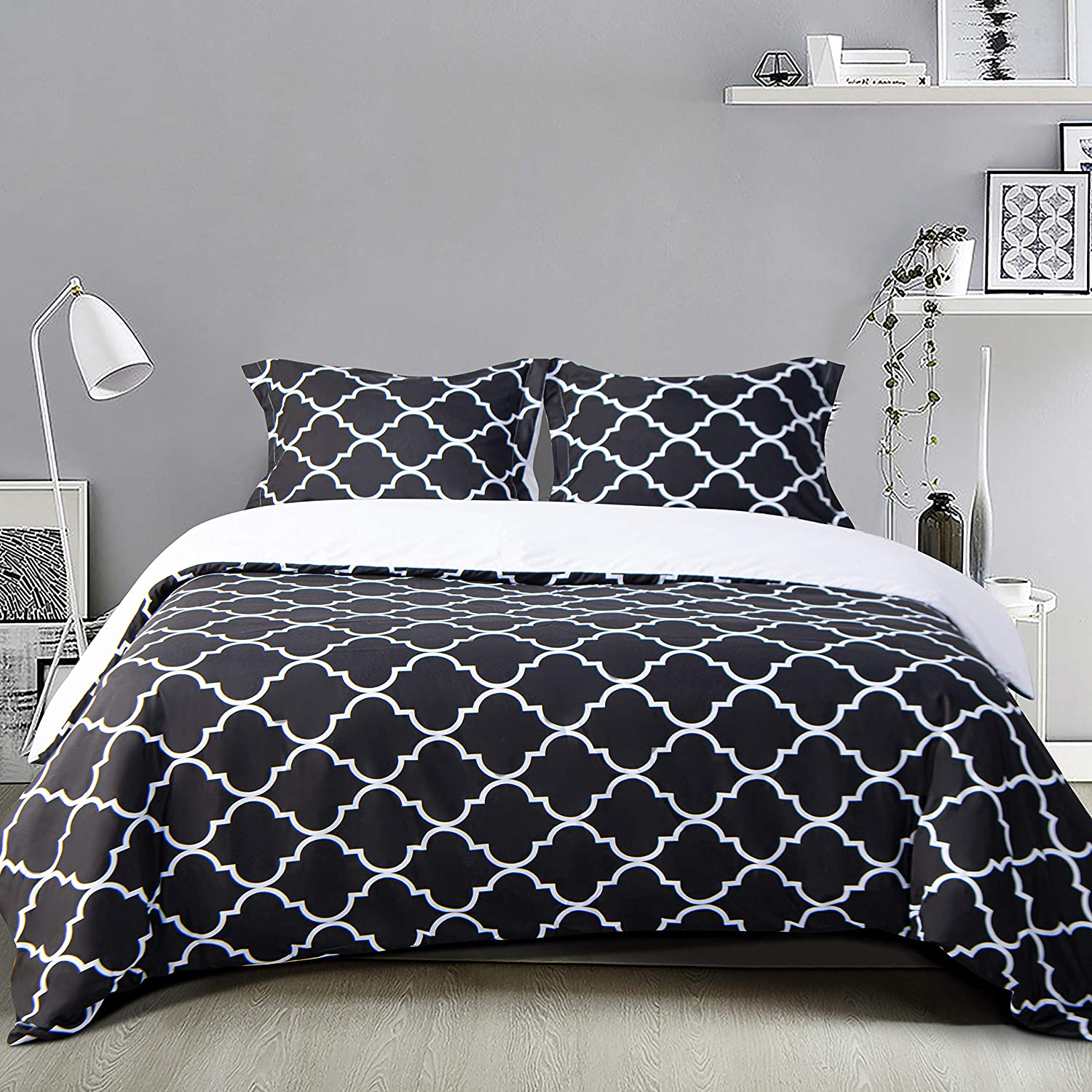 NTBAY Microfiber Twin Duvet Cover Set Soft Geome 2 Ultra Sales for sale Max 43% OFF Pieces