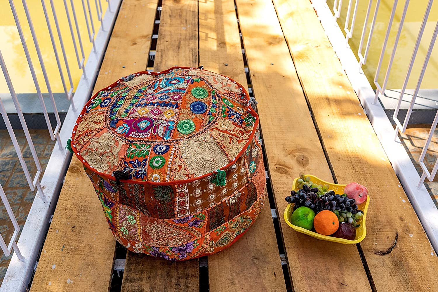 THE ART BOX Cotton Discount mail order Patchwork Vintage Bag Bean Boho Embroidered San Diego Mall S