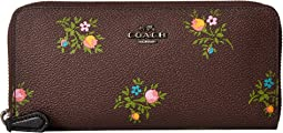COACH - Slim Accordion Zip in Cross Stitch Floral