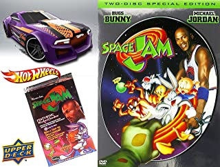 SPACE JAM SPACE JAM 2 Disc Special Edition DVD & Hot Wheels Basketball Car Set - Looney Tunes Space Jam Trading Cards