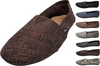 Mens Canvas Slip on Shoes Sneakers. Available in Navy, Gray, Black, and Brown