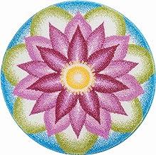 Grund Bath Mat, Ultra Soft and Absorbent, Anti Slip, 5 Years Warranty, Understanding, Mandala 60 cm Round, Purple