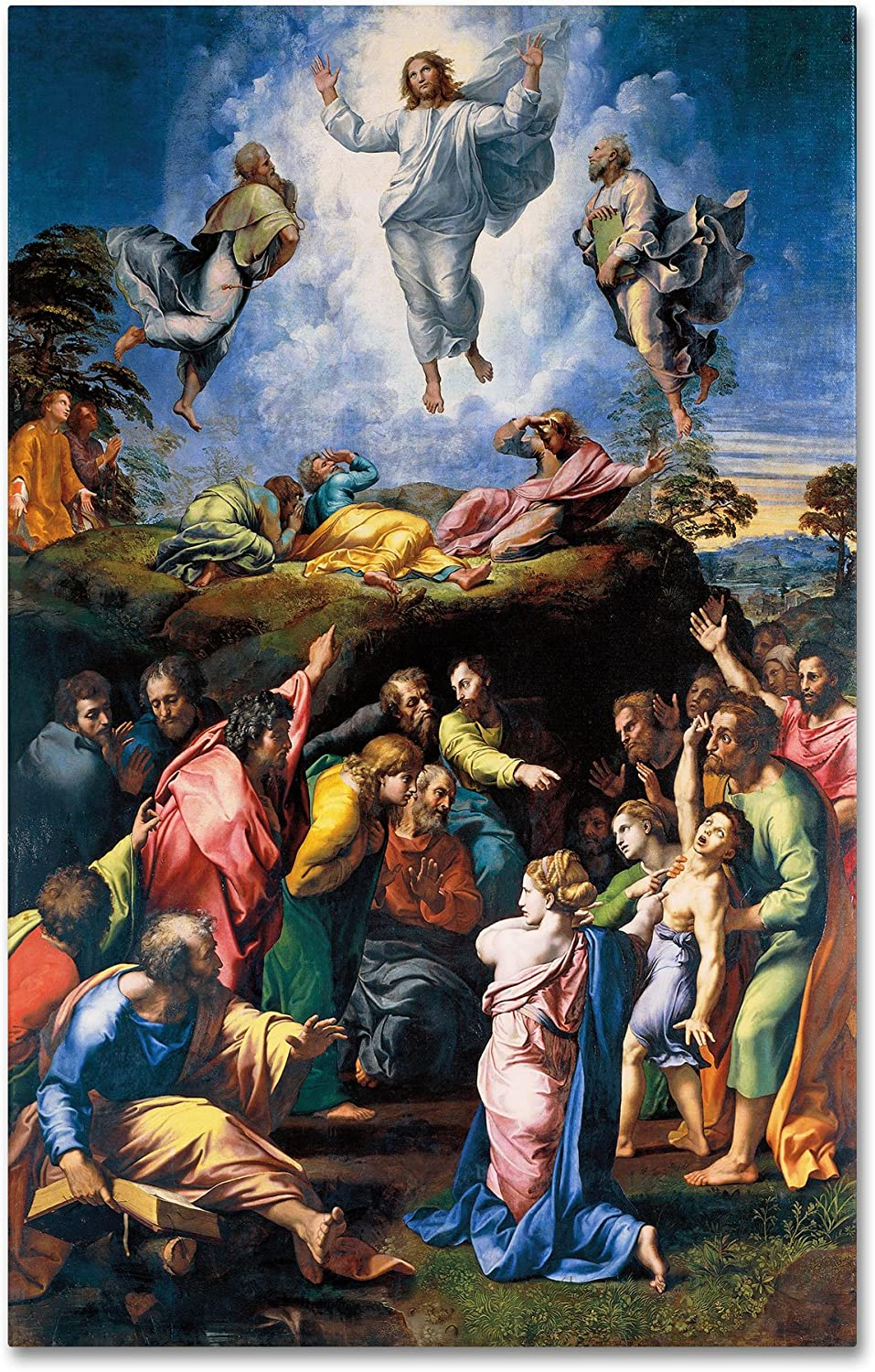 Amazon.com: The Transfiguration 1519-20 Artwork by Raphael, 30 by 47-Inch Canvas Wall Art: Posters & Prints