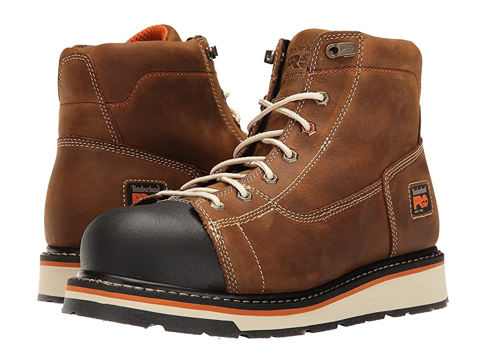 Timberland PRO Gridworks 6 Soft Toe Boot (Brown Full-Grain Leather) Men