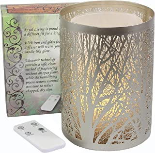 Royal Living Enchanted Forest Essential Oil Diffuser, Ultrasonic Aromatherapy Humidifier (Silver)