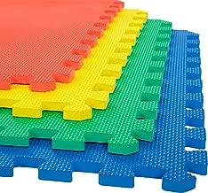 Stalwart Foam Mat Floor Tiles, Interlocking EVA Foam Padding Soft Flooring for Exercising, Yoga, Camping, Kids, Babies, Playroom – 4 Pack