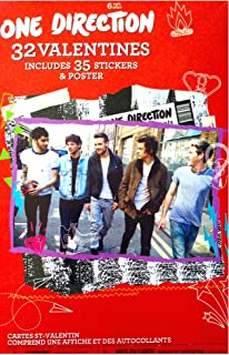 One Direction 32 Valentines Includes 35 Stickers and Poster (Renewed)