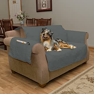 Furniture cover, 100% Waterproof Protector Cover for Chair Collection, by PETMAKER Love Seat Gray 80-PET6121