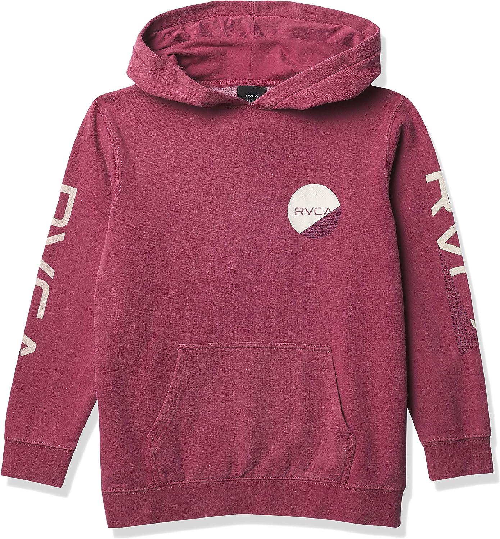 着後レビューで 送料無料 RVCA Boys' Fraction お買い得 Sweatshirt Hooded