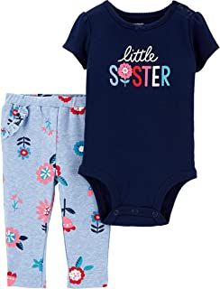 Carter's Baby Girl's 2-Piece Bodysuit and Pants Set