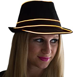 Light Up Fedora Flashing Novelty Funky Disco Top Hat