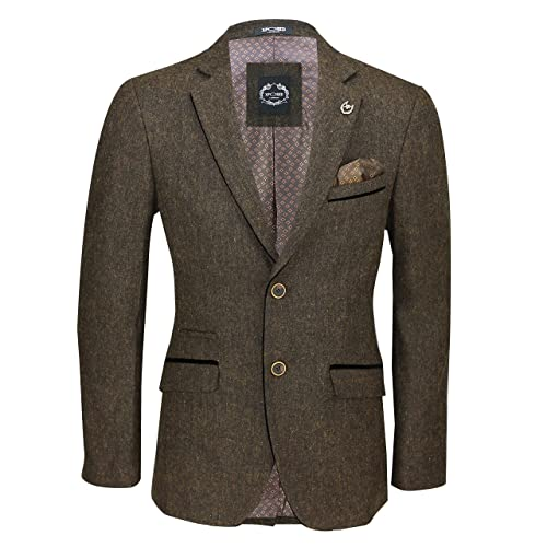 d42f2adb8 Mens Brown Wool Mix Tweed 3 Piece Suit Sold Separately Blazer Trouser  Waistcoat