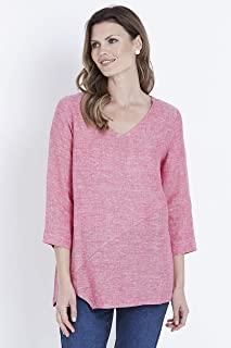 W.Lane Assymetric Hem Linen Top - Womens