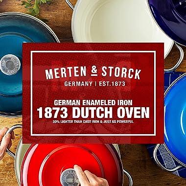 Merten & Storck German Enameled Iron 1873 Aegean Teal Dutch Oven, 5.3QT