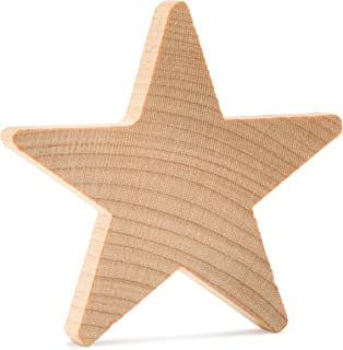 1 Inch Wooden Stars, Natural Unfinished Wooden Star Cutout Shape (1 Inch) - Bag of 50 by Woodpeckers