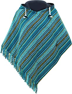 Cotton Poncho for Women Reversible Multicolor Baja Poncho Women in