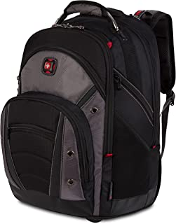 """Wenger Luggage Synergy Wheeled 16"""" Laptop Backpack Bag, Black/Grey, One Size"""