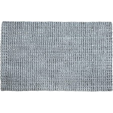 Irongate Classic Jute Solid Handwoven Reversible Ribbed Jute Area Rug, 2' X 3', Grey