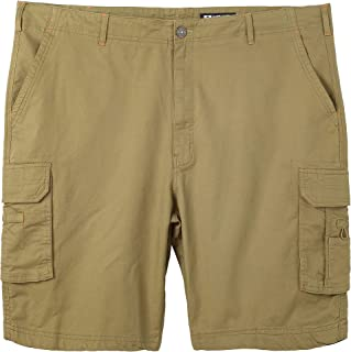 WenVen Men's Lightwight Cotton Twill Casual Outdoor Wear Cargo Shorts (Regular & Big-Tall Sizes)