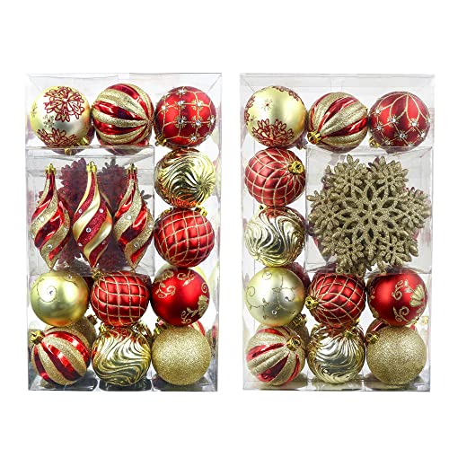 Red And Gold Ornament Sets Amazon Com