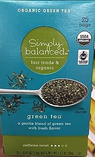 Simply Balanced Fair Trade & Organic Green Tea 20 Bags