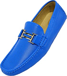 Harry - Men's Driving Moccasins – Mens Slip On Loafer Moccasins, Slip-on Dress Shoes - Original Men's Driving Moccasins with Silver Bit