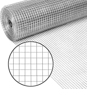 PS Direct Hardware Cloth - 24 Inch x 25 Foot Multipurpose Galvanized Mesh – 1/4 Inch Square Openings, Great for Chicken Coop, Gutter Guard Craft Projects and Garden Use, 23 Gauge, 1 Roll