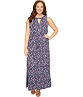 Lucky Brand - Plus Size Floral Print Long Dress