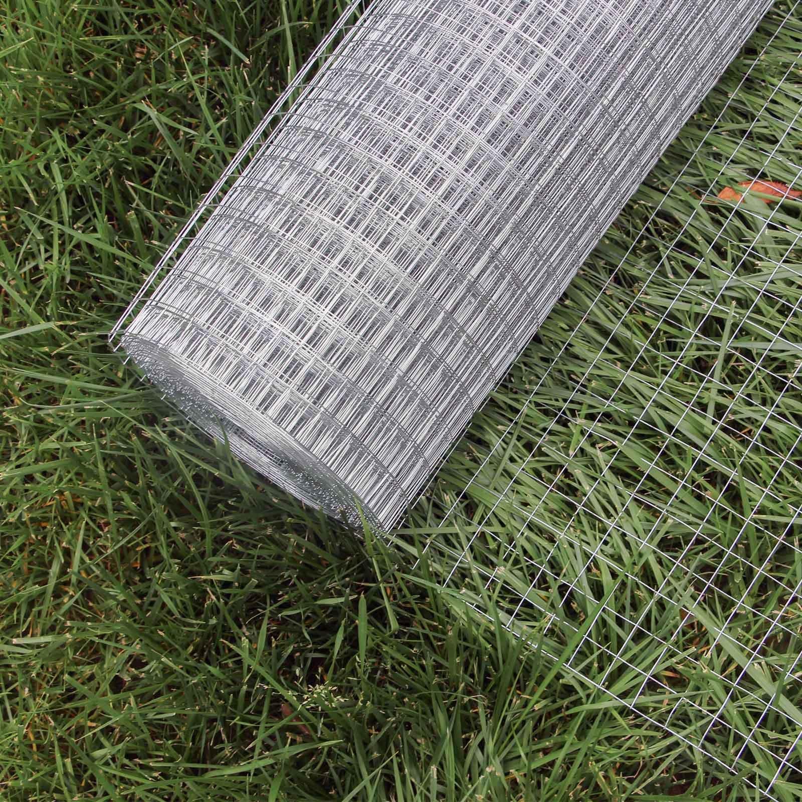WilTec Malla Alambre metálica gallinero Cierre metálico galvanizado Rollo 1mx25m mallado 12x12mm Jardín: Amazon.es: Productos para mascotas