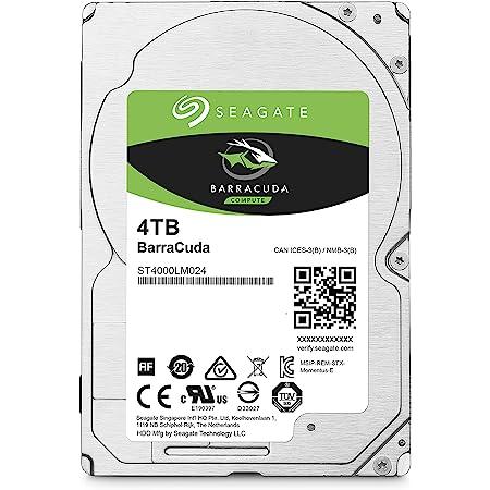 Seagate BarraCuda Mobile Hard Drive 4TB SATA 6Gb/s 128MB Cache 2.5-Inch 15mm (ST4000LM024)