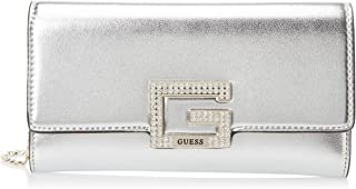 Guess Womens Clutch Bag, Silver - MG767571