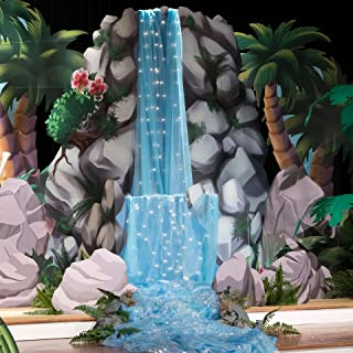 9 ft. 7 in. Ready to be Rescued Waterfall Standup Photo Booth Prop Background Backdrop Party Decoration Decor Scene Setter Cardboard Cutout