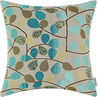 CaliTime Cushion Cover Throw Pillow Case Shell for Couch Sofa Home Decoration Luxury Chenille Cute Leaves Both Sides 18 X ...