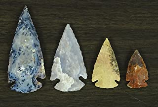 Reikiera Handmade Indian Agate Stone Small Spearhead Set of 8 Inches Arrowheads