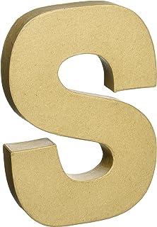 Darice 2862-S Paper Mache Letter 8Inx5.5in