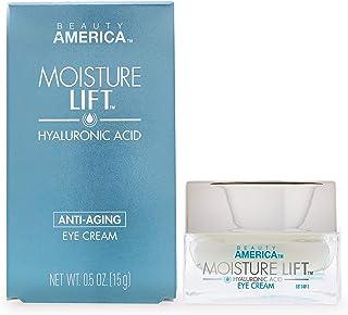 Beauty America Moisture Lift, Anti-Aging, Hyaluronic Acid Eye Cream, 0.5 Oz