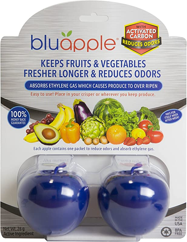 Bluapple Blue Produce Freshness Balls With Activated Carbon Keeps Produce Fresher Longer And Absorbs Odors For Longer Lasting Fruits And Vegetables