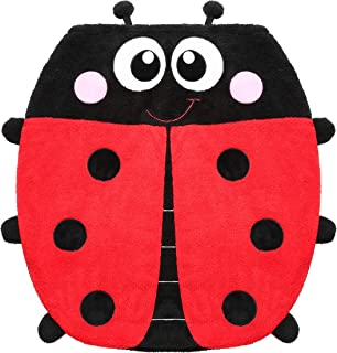 Ladybug Blanket for Kids, 2-in-1 Soft Plush Fleece Blanket Sleeping Bag Pocket Style Animal Plush Toy with 3D Animal Pattern for Sofa Bed Travel Sleepovers Outdoor Gifts for Kids 34 Inch X 36 Inch