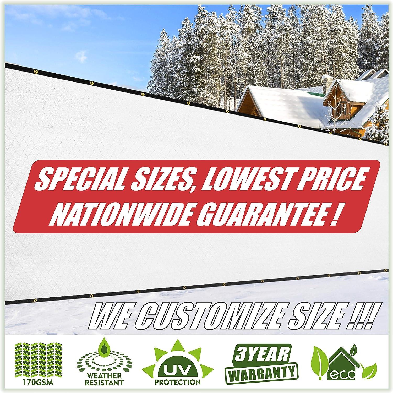 ColourTree Rare Customized Max 85% OFF Size Fence White Privacy Screen 4'