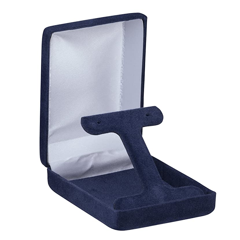 Allure Echelon French Clip Long Earring Box, Navy Blue