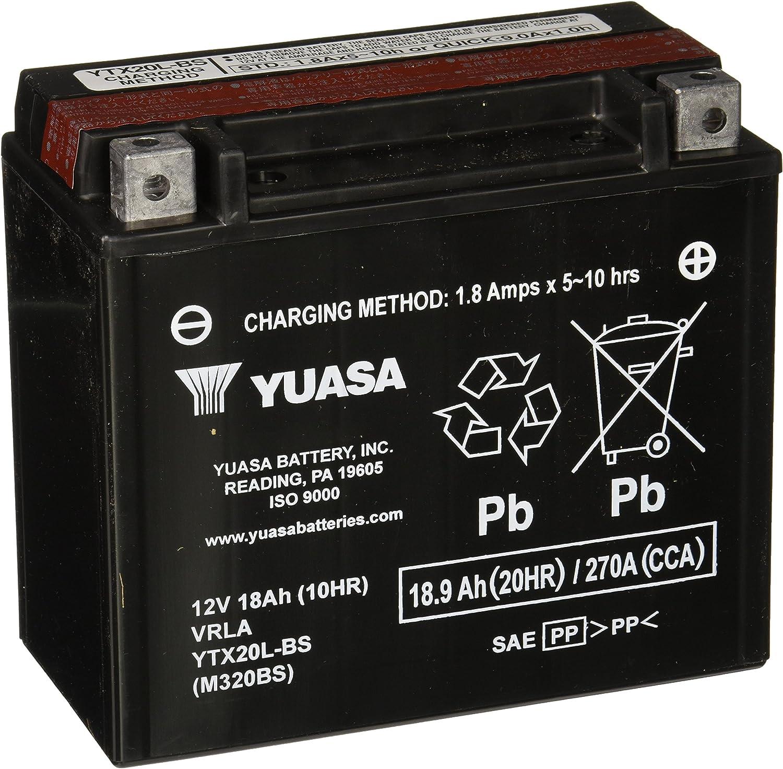 Free shipping New Yuasa YUAM320BS Overseas parallel import regular item YTX20L-BS Battery