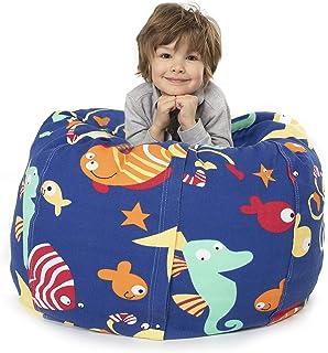 BANBALOO- Pouf XXL sac pour garder des jouets mous – Sac-coffre pour coussins et couvertures convertible en fauteuil pour ...