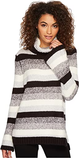 kensie - Punk Yarn Stripe Sweater KSDK5761