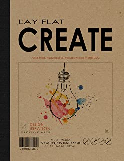 "Design Ideation Lay Flat : Removable Sheet Pad. Multi-Media Paper Create Pad for Pencil, Ink, Marker, Charcoal and Watercolor Paints. Great for Art, Design and Education. (8.5"" x 11"") (2)"